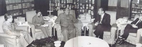 Mao Zedong ze spluwaczką, Zhou Enlai, Richard Nixon
