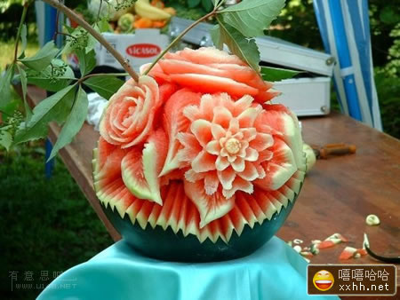 西瓜很忙雕刻_Xiguahenmang_watermelon_scuplture_carvings_china_arbuz_rzezby_chiny_07