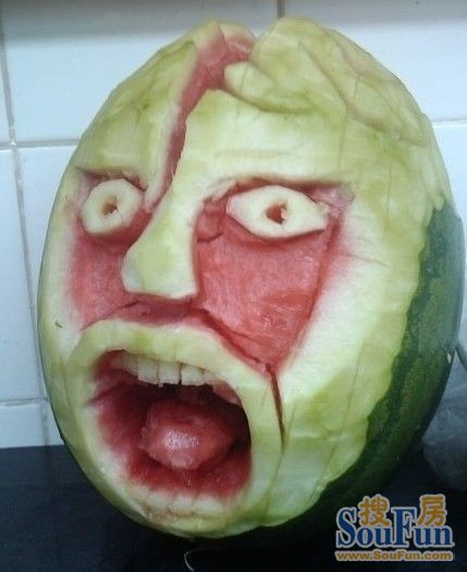 西瓜很忙雕刻_Xiguahenmang_watermelon_scuplture_carvings_china_arbuz_rzezby_chiny_20