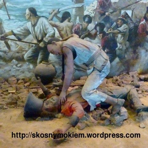 humen_naval_war_history_museum_虎门海战博物馆_Chinese_soldier_kills_English_Invader_中国军人杀英国侵略者